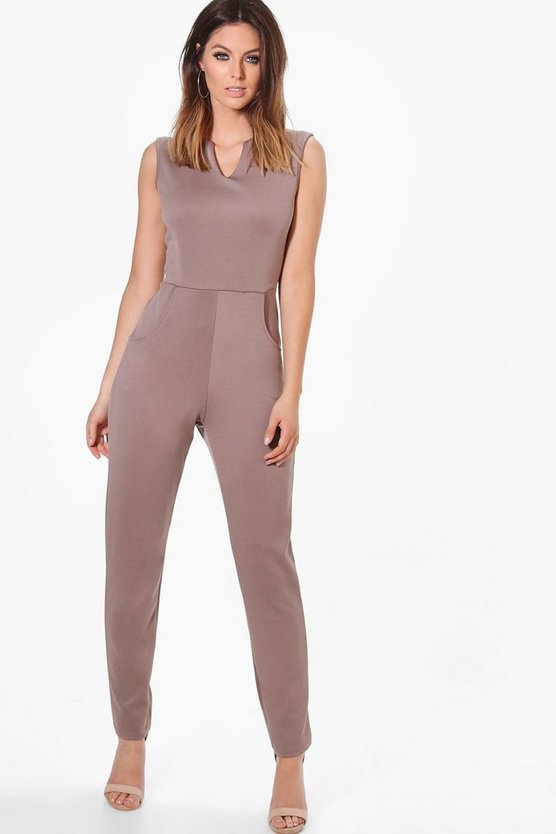 Nina Notch Neck Tailored Jumpsuit