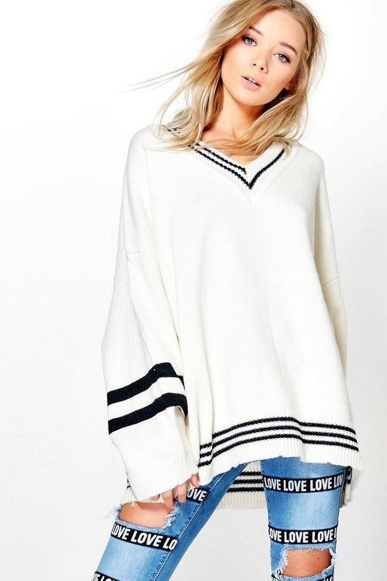 Rosie Oversized Cricket Jumper