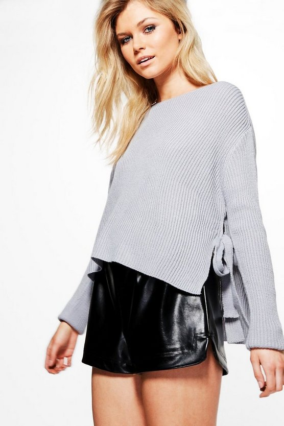 Molly Crop Tie Detail Jumper