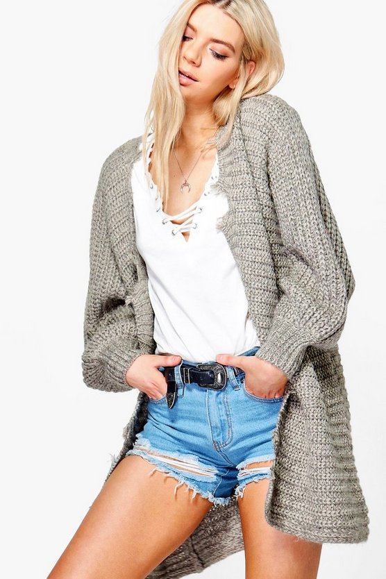 Grace Distressed Hem Cardigan