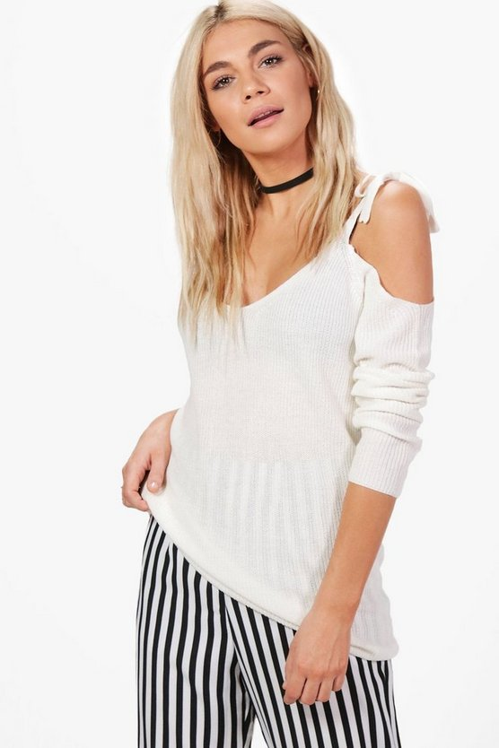 Louise Lace Up Shoulder Jumper