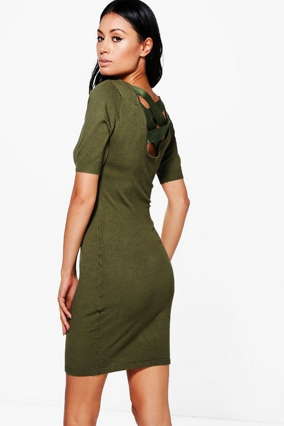 Maria Lace Up Back Jumper Dress