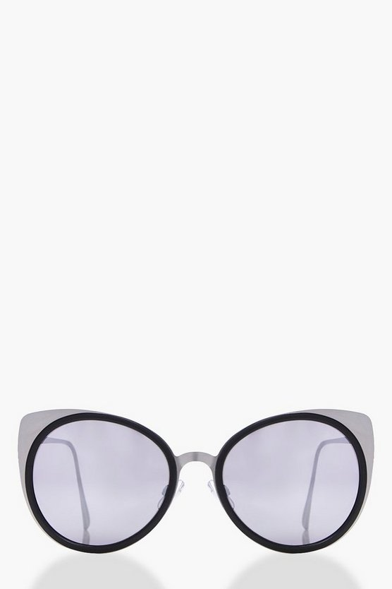 Aleena Metal Frame Cat Eye Sunglasses