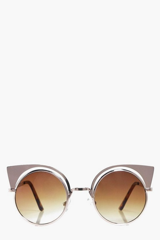 Macie Metal Exaggerated Cat Eye Sunglasses