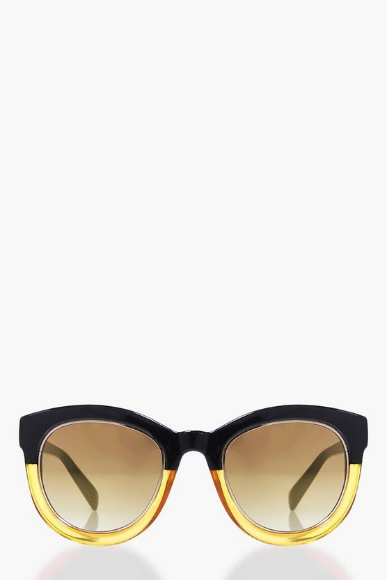 Sadie Contrast Frame Cat Eye Sunglasses