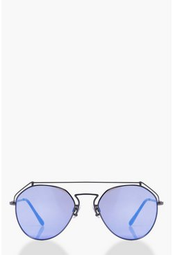 Evie Revo Lense Top Bar Aviator Sunglasses