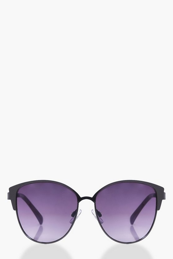 Hannah Matte Frame Cat Eye Sunglasses