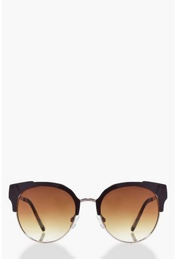 Vanessa Half Frame Cat Eye Sunglasses