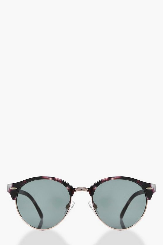 Ella Patterned Frame Wayfarer Sunglasses
