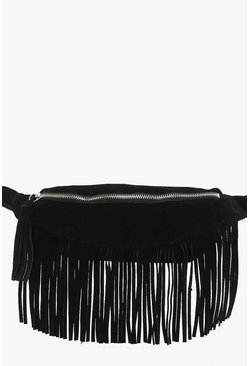 Darcy Leather Fringe Bumbag