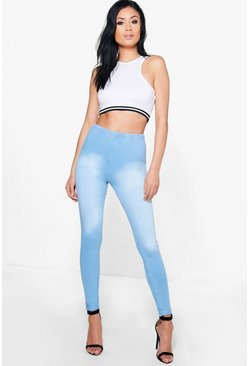 Lexi Stone Wash Pocket Back Stretch Jeggings