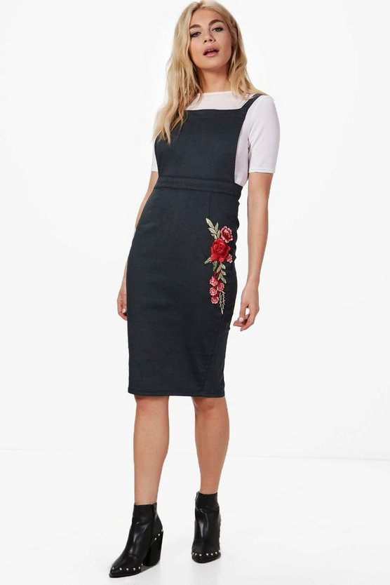 Penelope Embroidery Bodycon Denim Dress