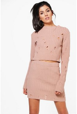 Keira Distressed Knitted Co-ord