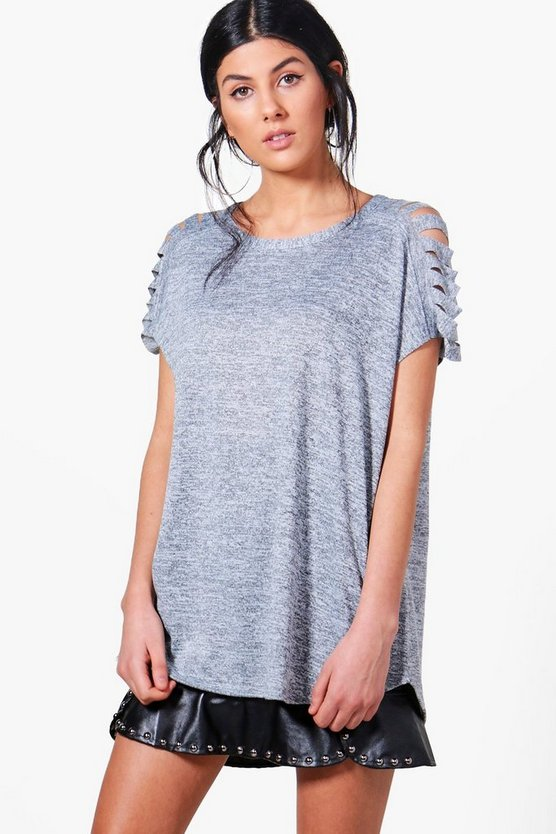 Lauren Slash Sleeve Knitted Top