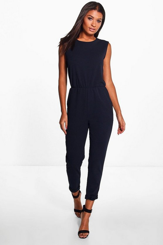 Erin Zip Shoulder Tailored Jumpsuit