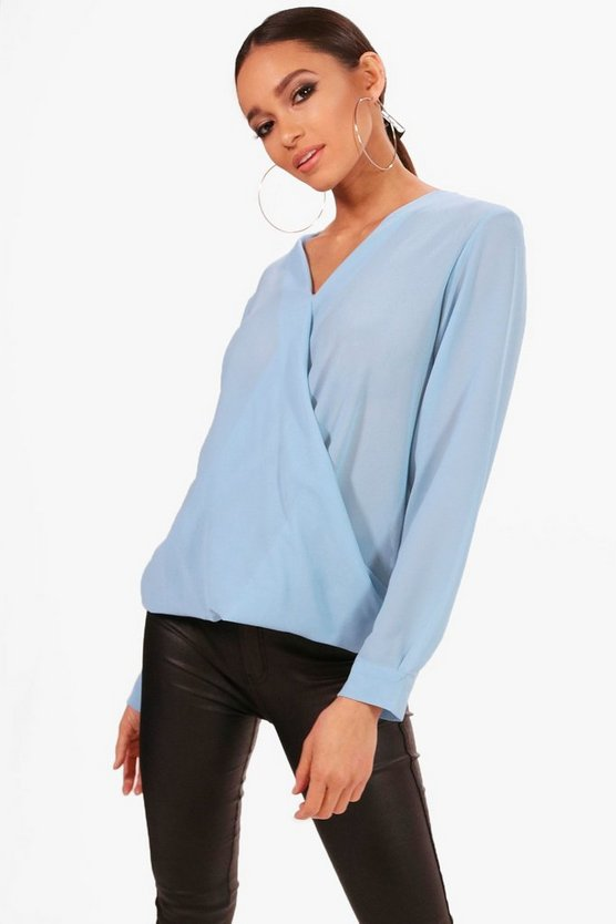 Annabelle Wrap Over Blouse