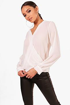Annabelle Bluse mit Wickelung - Boohoo.com