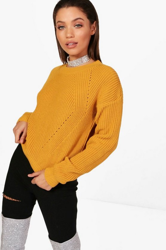 Oversized Mix Stitch Jumper