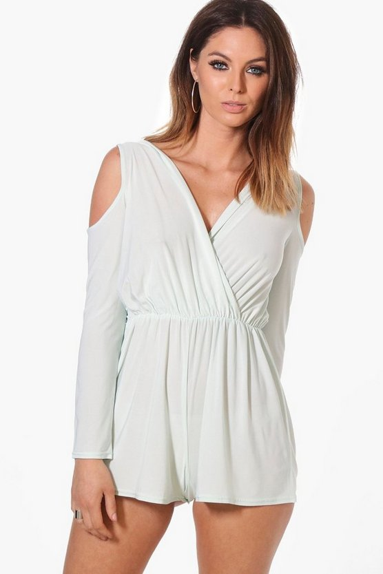 Cold Shoulder Slinky Playsuit