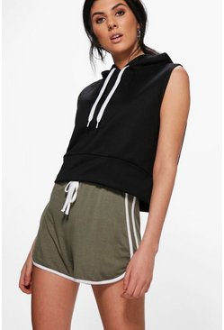 Emily Contrast Jersey Runner Shorts