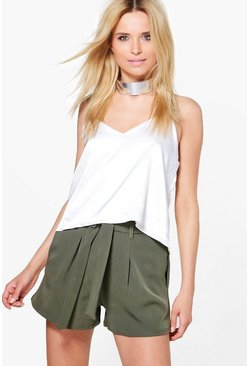 Julia Tie Belt Woven Tailored Shorts
