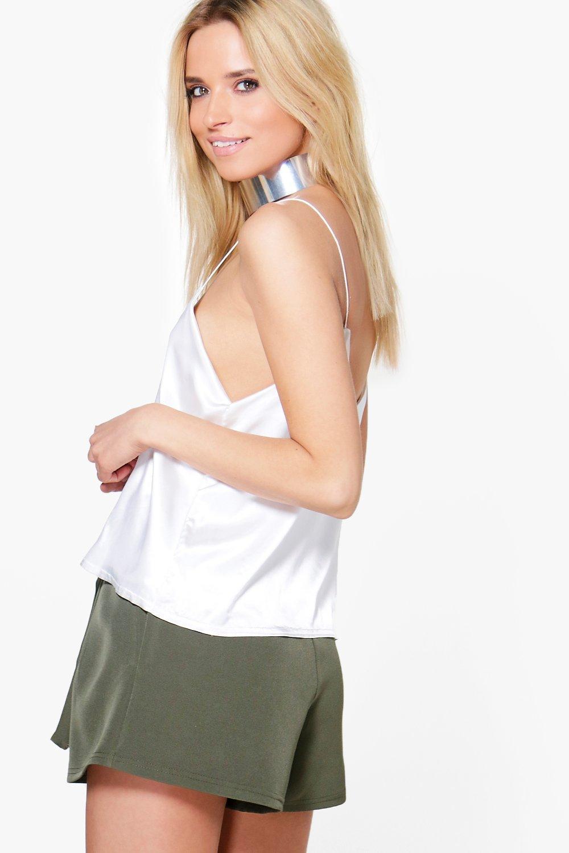 boohoo damen julia elegant geschnittene shorts aus webmaterial mit bindeg rtel ebay. Black Bedroom Furniture Sets. Home Design Ideas