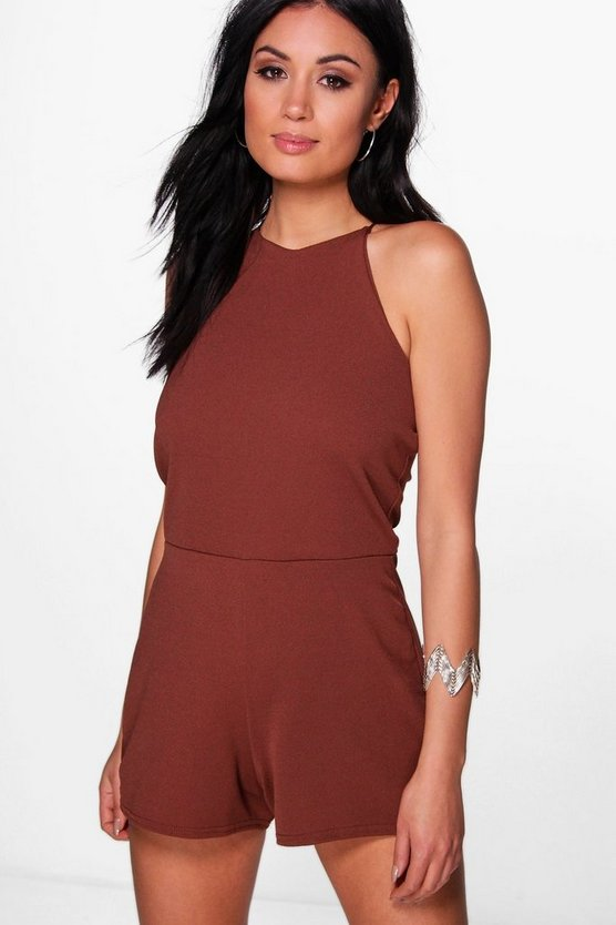 Lottie High Neck Playsuit