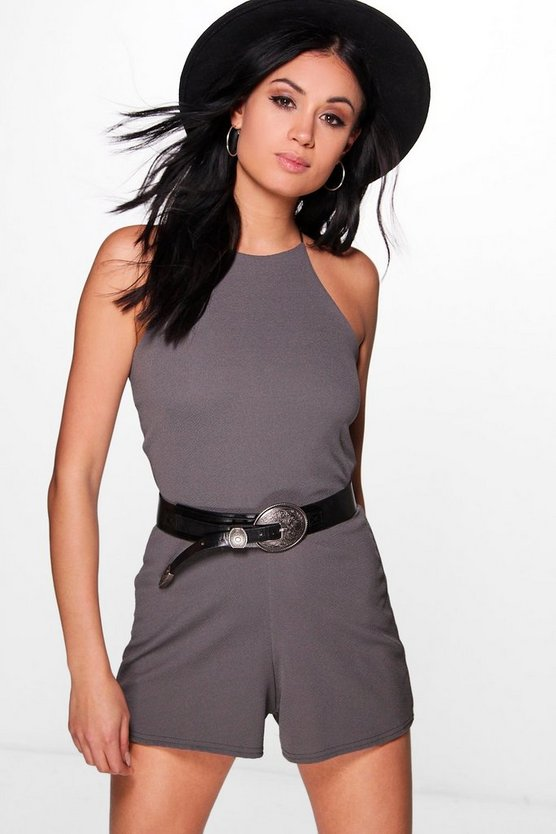 Kellie High Neck Playsuit