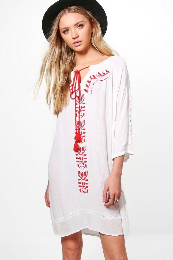 Josie Embroidered Swing Dress