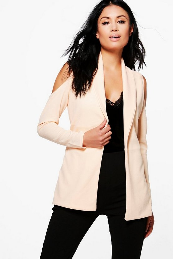 Caroline Cold Shoulder Blazer