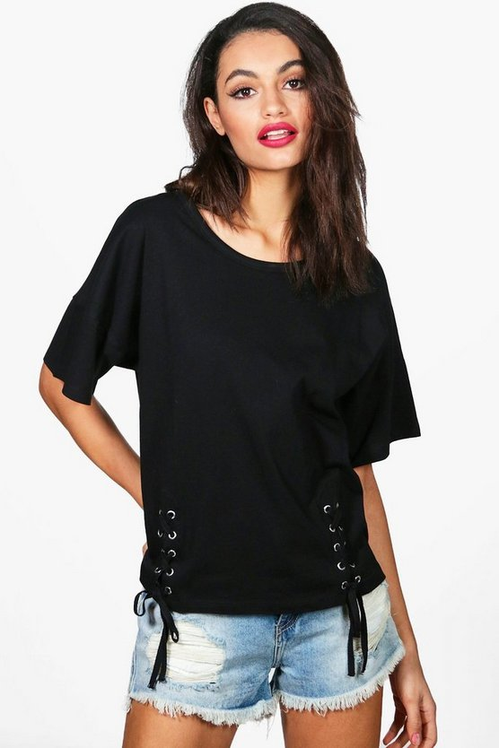 Lace Up Front T-Shirt