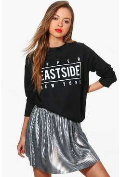 Rosie Upper East Side Slogan Sweatshirt