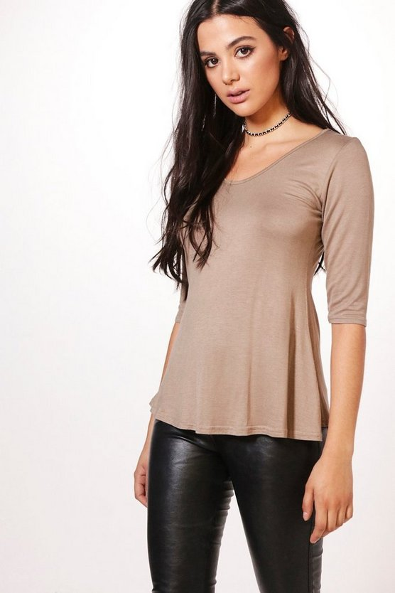 Orla 3/4 Sleeve Wide Hem T-Shirt