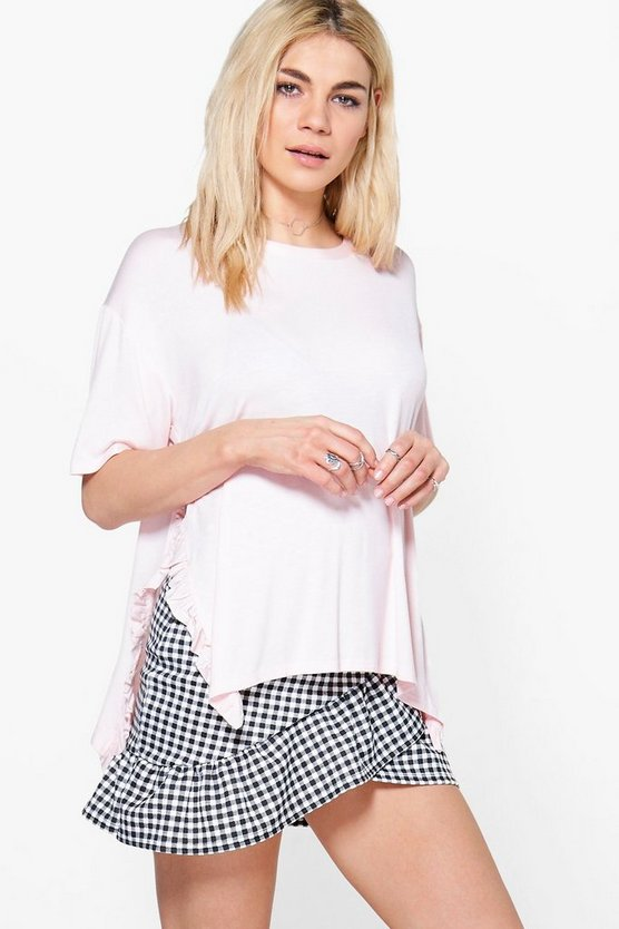 Esme Ruffle Side Split T-Shirt