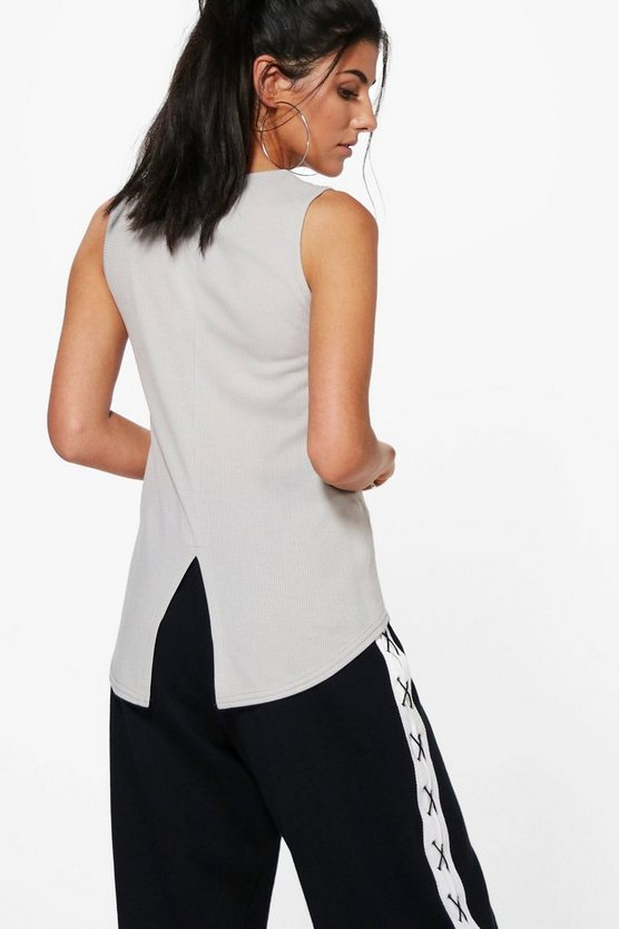 Raegan Basic Split Back Rib Vest