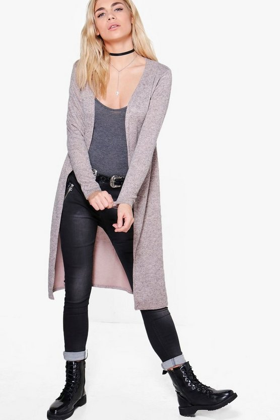 Milly Midi Brushed Knit Cardigan
