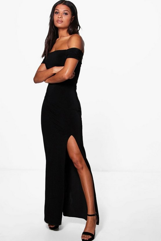 Jamie Slinky Off Shoulder Maxi Dress