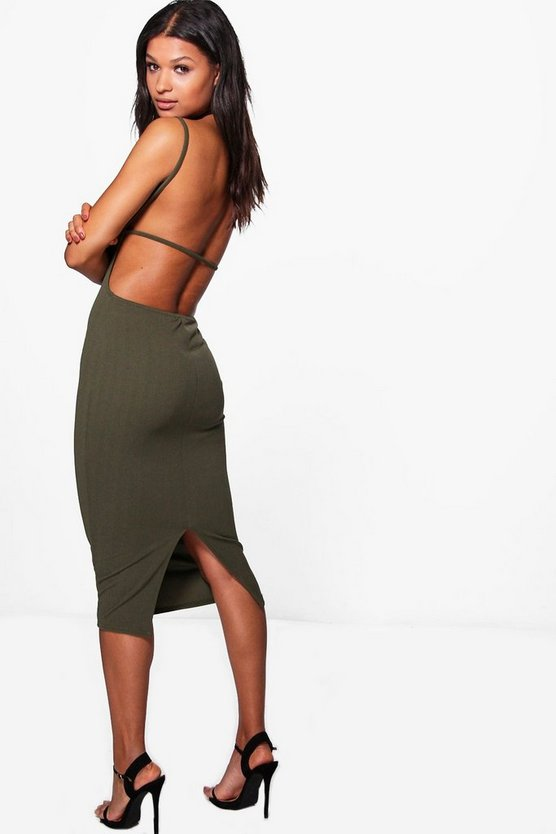 Rona Strappy Back Detail Midi Dress