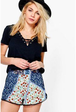 Lana Crochet Trim Floral Shorts
