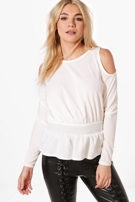 Harper Cold Shoulder Peplum Top