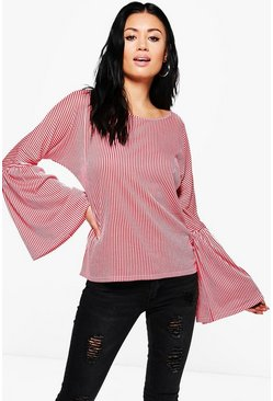 Isabel Stripe Flare Sleeve Top