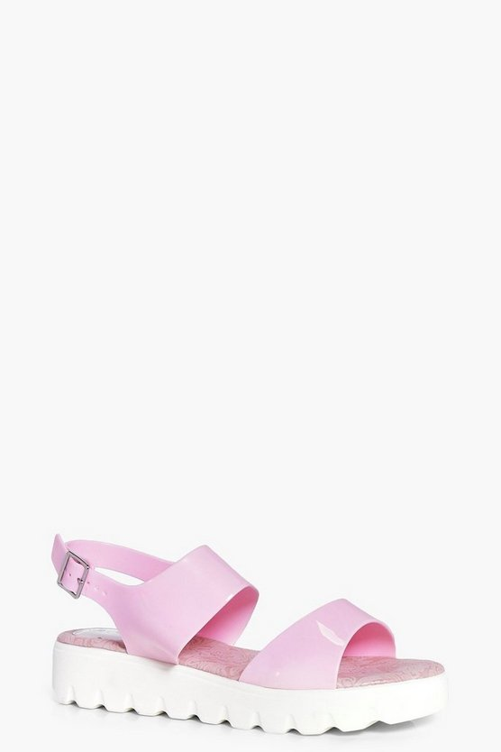 Ellie Cleated Two Part Flat Sandals