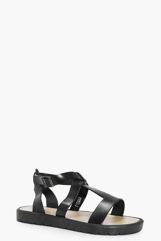 Isabella Multi Strap Flat Cleated Sandal