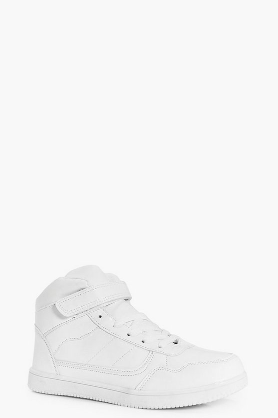 Phoebe Lace Up Velcro Strap High Tops