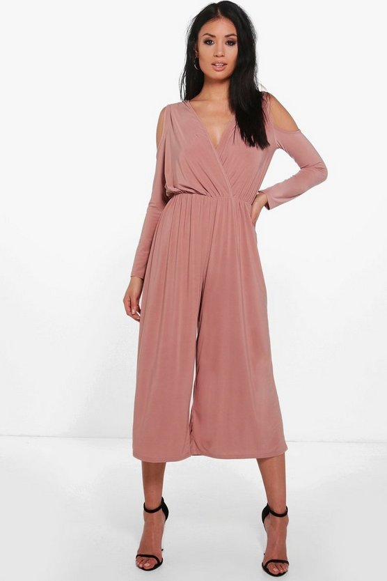 Alice Cold Shoulder Skinny Culotte Jumpsuit