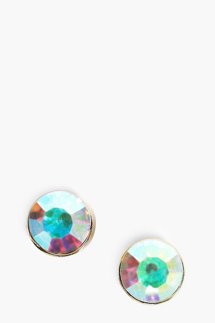Laura Holographic Stone Earrings