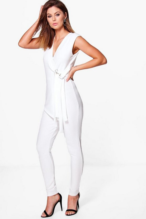 Runa Buckle Detail Tailored Jumpsuit