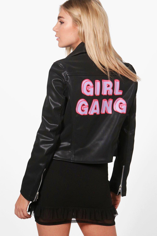 Georgina Girl Gang Vegan Biker Jacket