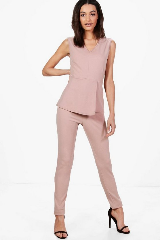 Karina Peplum Tailored Jumpsuit