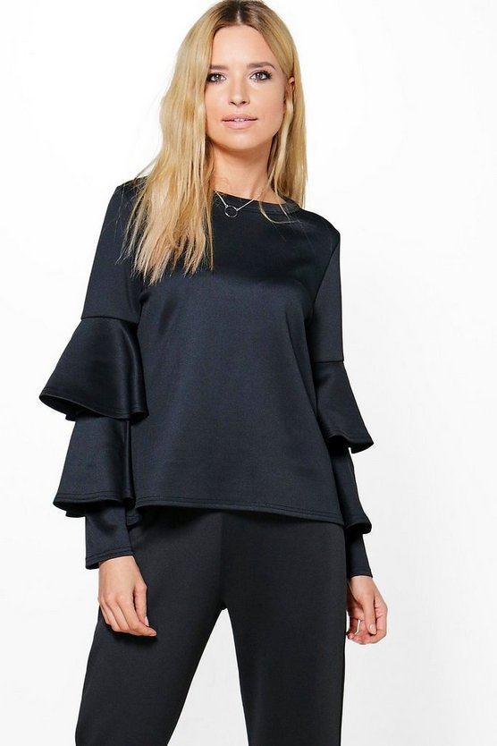 Annabelle Double Frill Sleeve Top